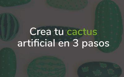 Maceta de cactus artificial para decorar tu hogar
