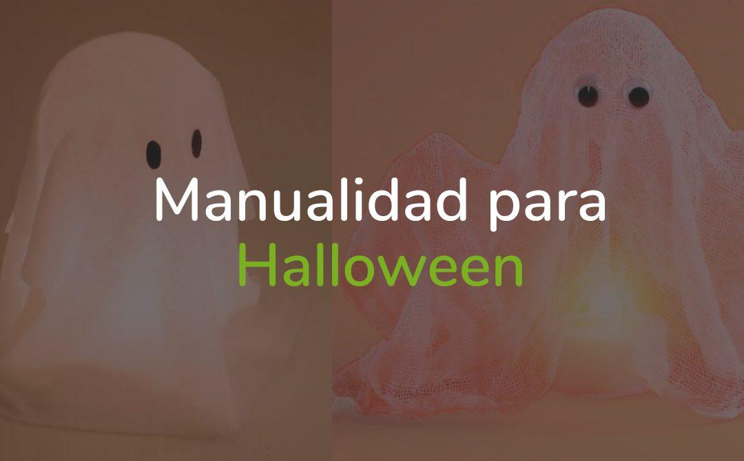 Manualidad para Halloween fantasma que levita