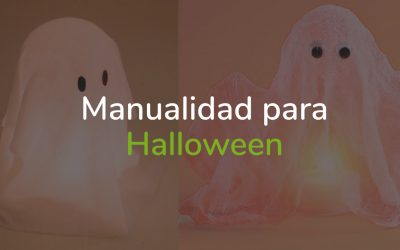Manualidad para Halloween: Fantasma que levita paso a paso