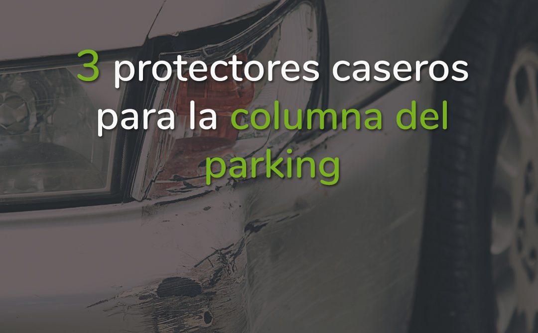 Protector columna garaje casero