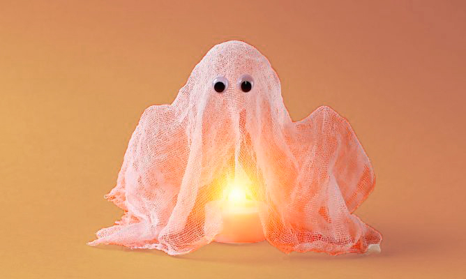 Fantasma levitando Halloween