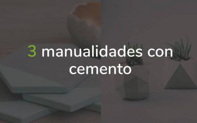 Manualidades con cemento – 3 ideas genia