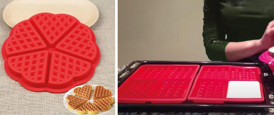 Gofres sin gofrera con molde de silicona