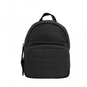 Bolso mochila negro mujer Fun & Basics