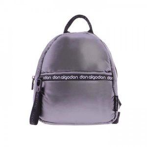 Bolso mochila plateado Don Algodón
